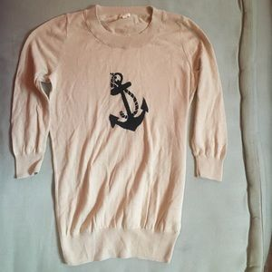 J.CREW XXS sweater with anchor graphic